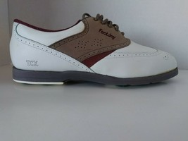 Footjoy TCX White Brown Leather Wingtip Lace Up Spikeless Golf Shoes Womens 9.5 - $37.87