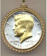 U.S. Bi-centennial Kennedy half (1976)  coin pendant necklace - $123.00