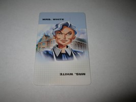 2003 Clue FX Board Game Piece: Mrs. White Suspect Card - $1.00