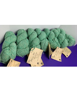 Lot of 7 Pure Wool Yarn Hank MINT HEATHER Green 2 Ply 4oz Chester Farms ... - $69.29