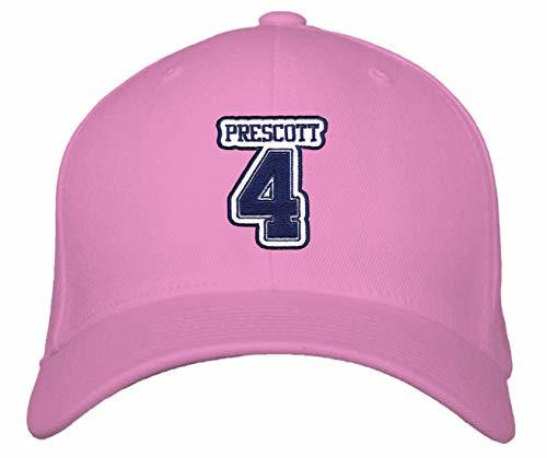 Dak Prescott #4 Hat - Dallas - Adjustable Unisex Pink Football Cap