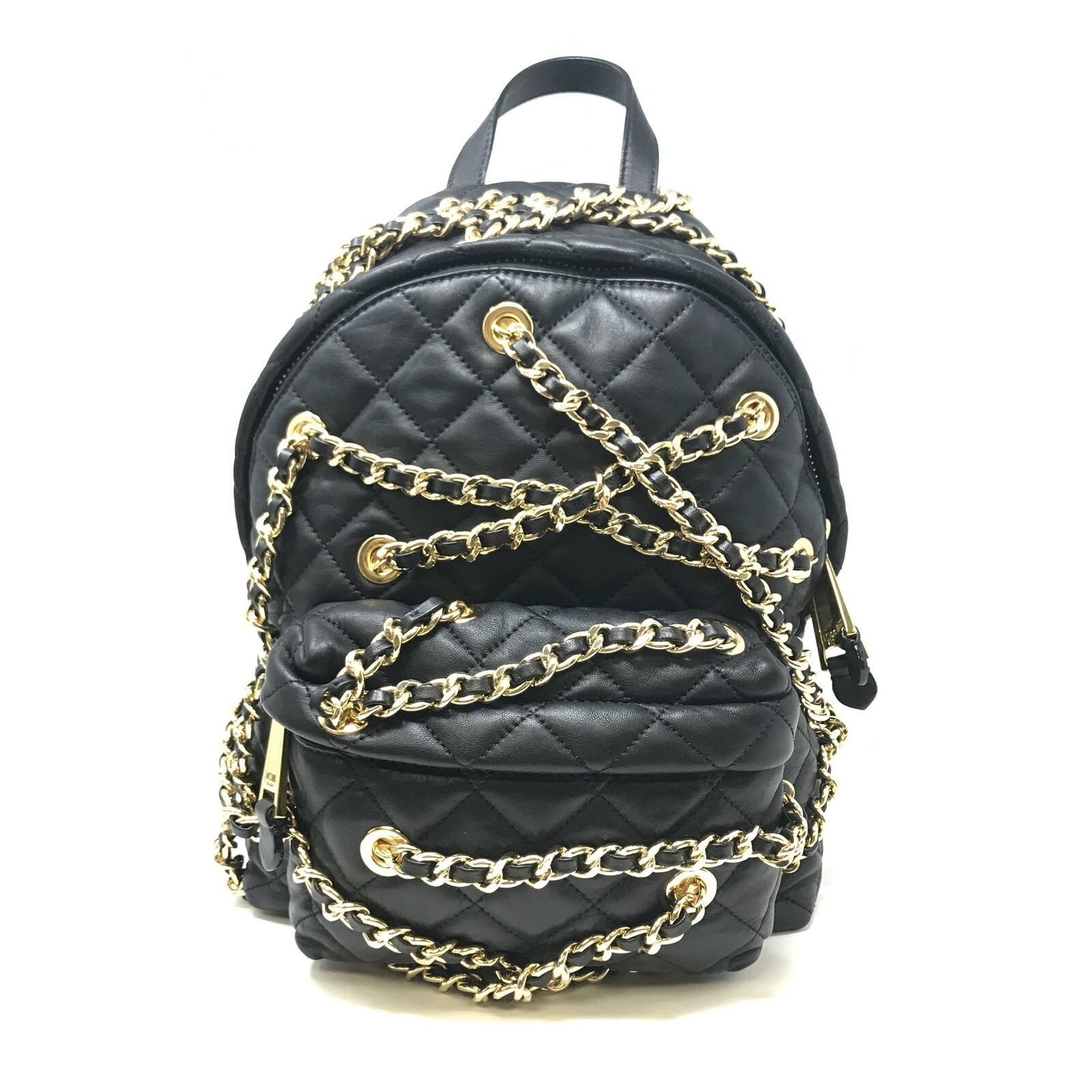 Primary image for Moschino Women's Metallic Quilted Leather Backpack With Gold-Tone Chains