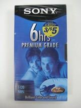 1 SONY VHS Cassette Tape T-120VL 6 HOUR Premium Grade NEW Videocassette Sealed - $4.14