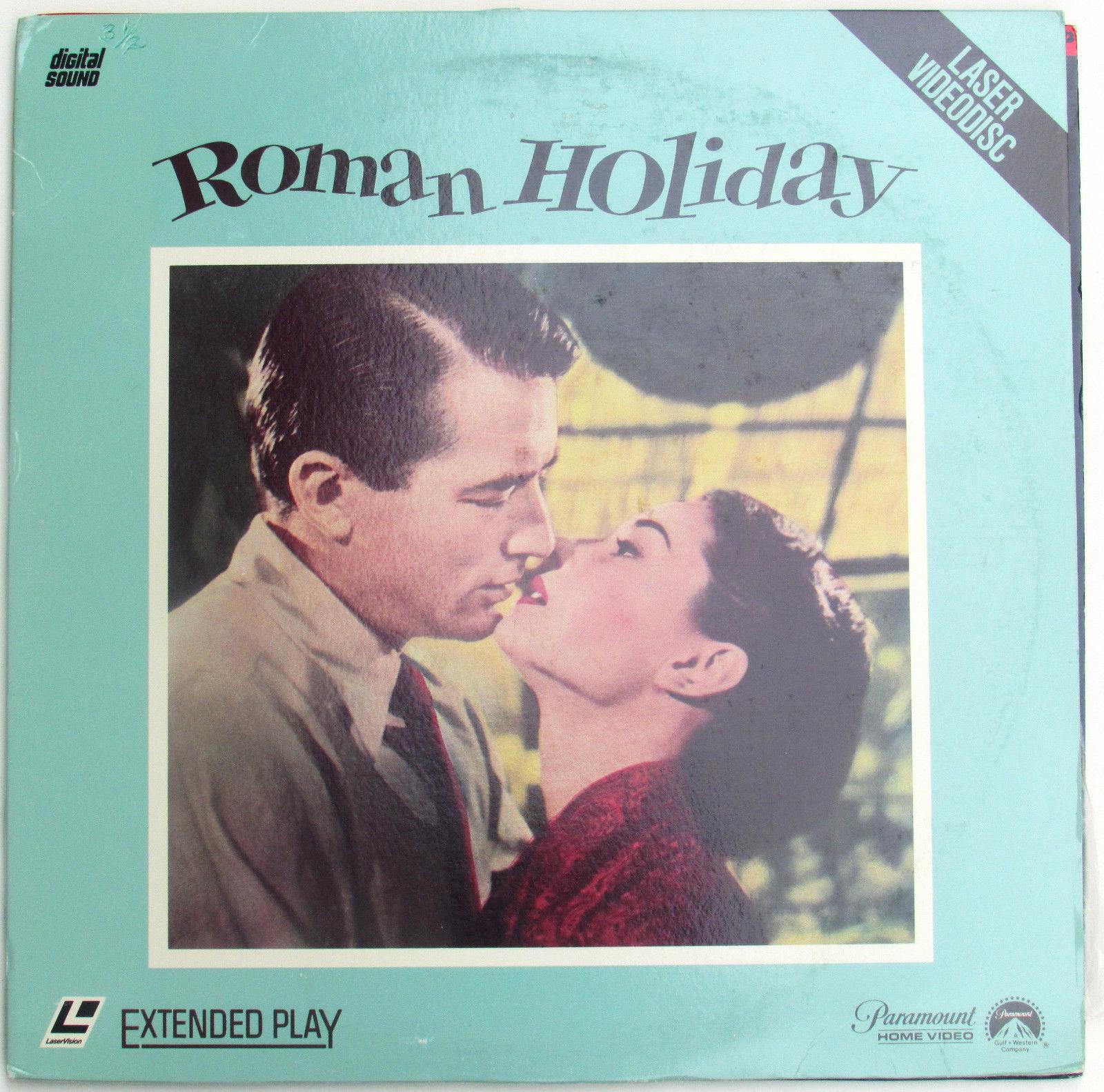 Roman holiday on laserdisc starring gregory peck audrey hepburn
