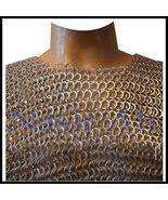 Nasir Ali Aluminum Chain Mail Shirt Round Rivet Flat Rings Chain Mail Ha... - $158.38