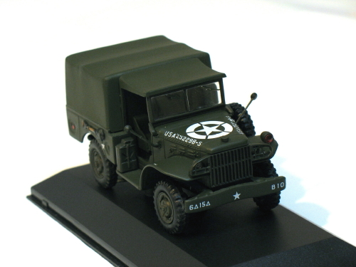 Dodge WC51 Weapons Carrier U.S. Army closed 1/43 die cast model car (Rare)