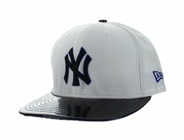 Mens New Era 59FIFTY New York Yankees Fitted Hat White Blue Black LR1804... - $17.99