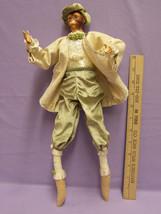 Vintage Ape Shelf Sitters in Victorian Clothes w/ Resin Head & Hands Ben... - $15.79