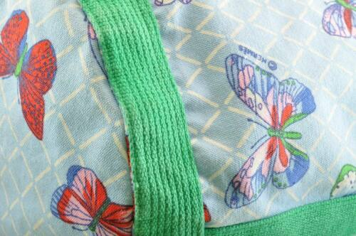 HERMES Shoulder Bag Cotton Blue Green Auth sa2173 image 9