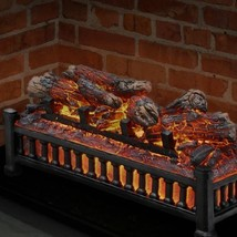 Electric Fireplace Logs Insert Wood Crackling Glowing Faux Fake Flame He... - $58.40