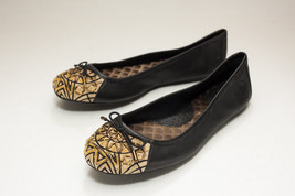 Born Size 6.5 Black Gold Ballet Flats - $42.00