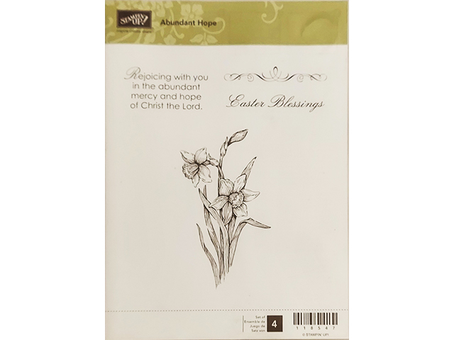 Primary image for Stampin' Up! Abundant Hope 4 Piece Rubber Cling Stamp Set #118547