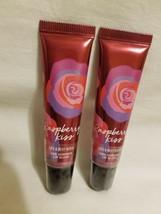 Lot 2 Bath & Body Works Raspberry Kiss - Red Shimmer Lip Gloss New Sealed - $12.86