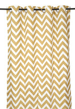 55 x 98 in. Grommet Curtain Chevron Print Latte - $21.35