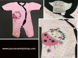 Mon Cheri Preemie One Piece My Cute Little Ladybug Pink Polka Dot - $8.99