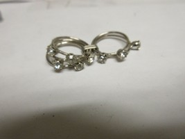 Costume Jewelry  , Quintuple Ring , 5 Loop Ring , Stones , Unique , Rare  - $49.50