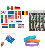 Diversity Pencils (24) + Flags of All Nations (72) + Be You Rubber Brace... - $18.99