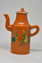 Antique Chinese Small Red Porcelain Wine / Teapot Vessel - 5.5 inches tall~ - $66.32