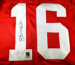 JOE MONTANA / AUTOGRAPHED SAN FRANCISCO 49ERS RED CUSTOM JERSEY / PLAYER HOLO image 3