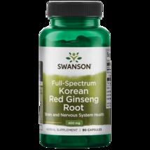Natural Swanson Full Spectrum Korean Red Ginseng Root Capsules 400 mg. 90 Count - $24.47