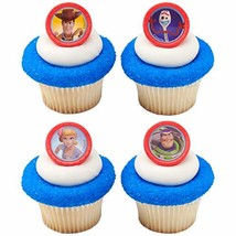 24 Toy Story 4 Toys Play Cupcake Rings Toppers Party Supplies - $8.86