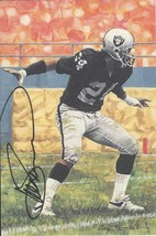 Willie Brown autographed signed Goal Line Art Card - $24.99