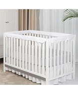 TILLYOU 4 Piece Baby Crib Rail Protector Chewing Safe Teething Guard White - $26.99
