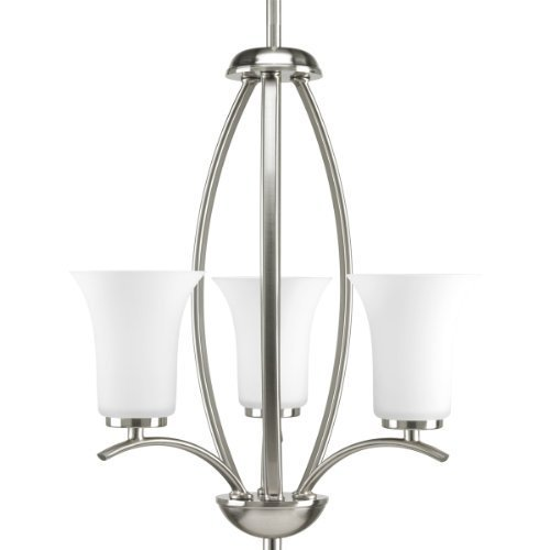 Primary image for Progress Lighting P3587-09 Joy Collection 3-Light Foyer Pendant, Brushed Nickel