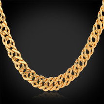Necklaces, Rose Gold/18K Real Gold Plated '18K' Stamp 6MM Classic Italia N442 - $23.99+