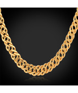 Necklaces, Rose Gold/18K Real Gold Plated '18K' Stamp 6MM Classic Italia... - $23.99+