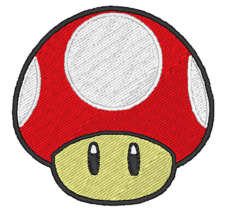 Mario's Mushroom Embroidered Patches Sew Iron On Badge Bag Jeans Jacket ... - $3.39