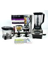 Ninja Blender Food Processor Combo Set 1200 Watts 1.5 Horsepower w/ Doug... - $64.34