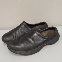 Merrell Women's Encore Groove Slip on Shoes Size 11 Black Leather Slides... - $40.00