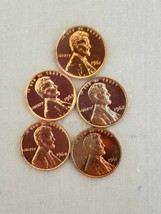 1961~ AND LATER~  IMPAIRED~ PROOF~ LINCOLN~ CENTS~ 5~ COINS~~ FREE SHIPP... - $3.47