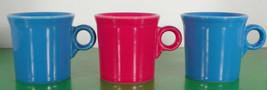 Homer Laughlin FIESTA Coffee Mug (s) LOT OF 3 Peacock Scarlet - $18.76