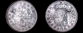 1719-J Spanish 2 Reales World Silver Coin - Spain - Philip V - Hole Marked - $99.99
