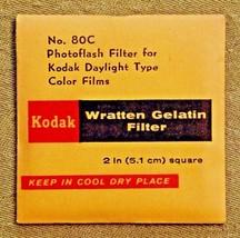 Kodak Wratten No. 80C (5.1 cm) 2-inch Gelatin Filter NEW OLD STOCK - $8.86
