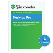 1 User QuickBooks Desktop PRO 2021. FREE CD INCLUDED. - $399.99