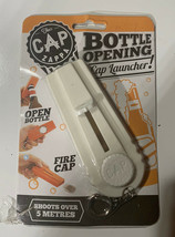 White Beer Bottle Opener Cap Zappa Launcher Shooter By Spinning Hat Fire... - $5.90