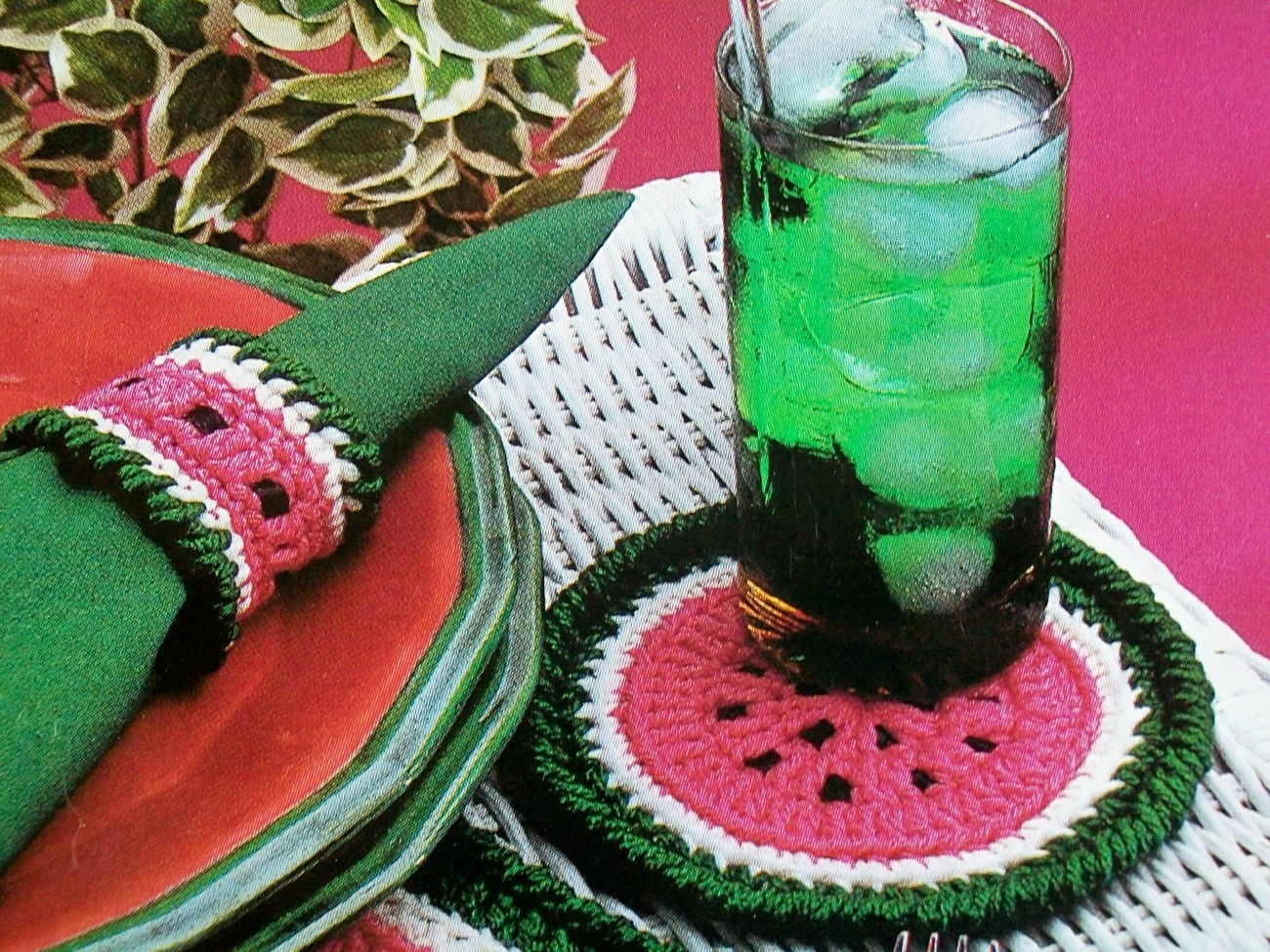 Watermelon Kitchen Set, Placemat Coaster And 39 Similar Items