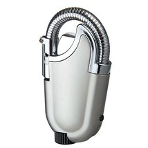 Novelty Adjust Jet Torch Windproof Flame Butane Refillable Cigar Lighter Silver  image 3