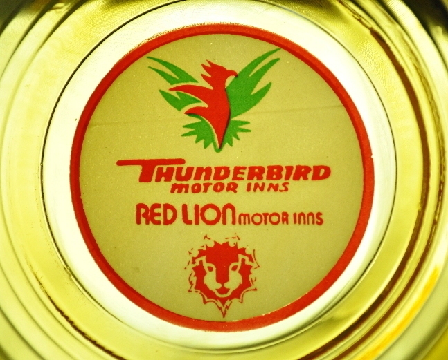 Thunderbird Motor Inn Red Lion Motor Inn golden ashtray Logo
