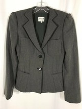 Armani Collezioni Women's Gray Wool Herringbone Blazer Jacket 2 - $45.00