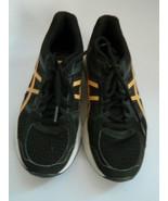 Women's Asics Gel Contend 4 Black Yellow Running Shoes Size 6.5 - $26.99