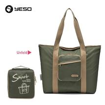 YESO Casual Women Tote Bags Multifunction Waterproof Nylon Foldable Top-... - $35.33