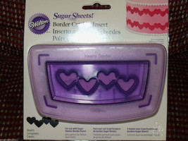 Wilton Sugar Sheets Border Cutting Insert Hearts NEW HTF - $18.63