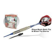 Piranha II Silver Conversion Darts 18g Steel Tip and Soft Tip Dart Combo Set - $33.95