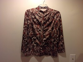 Multishade Brown Floral Patterned Button Up Blouse