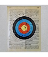 Archery Target Dictionary Page Art Print - $11.00