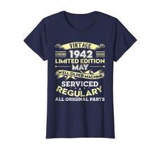Uncle Shirts -   Vintage May 1942 76th Year Old Birthday Shirt Gift Wowen image 3